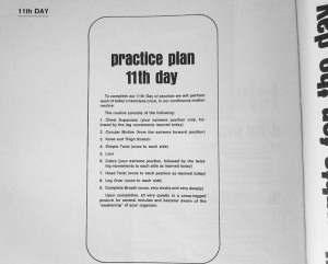 Richard Hittleman Yoga practice plan
