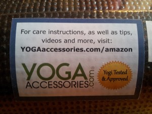 Inexpensive Yoga Mats YogaAccessories label