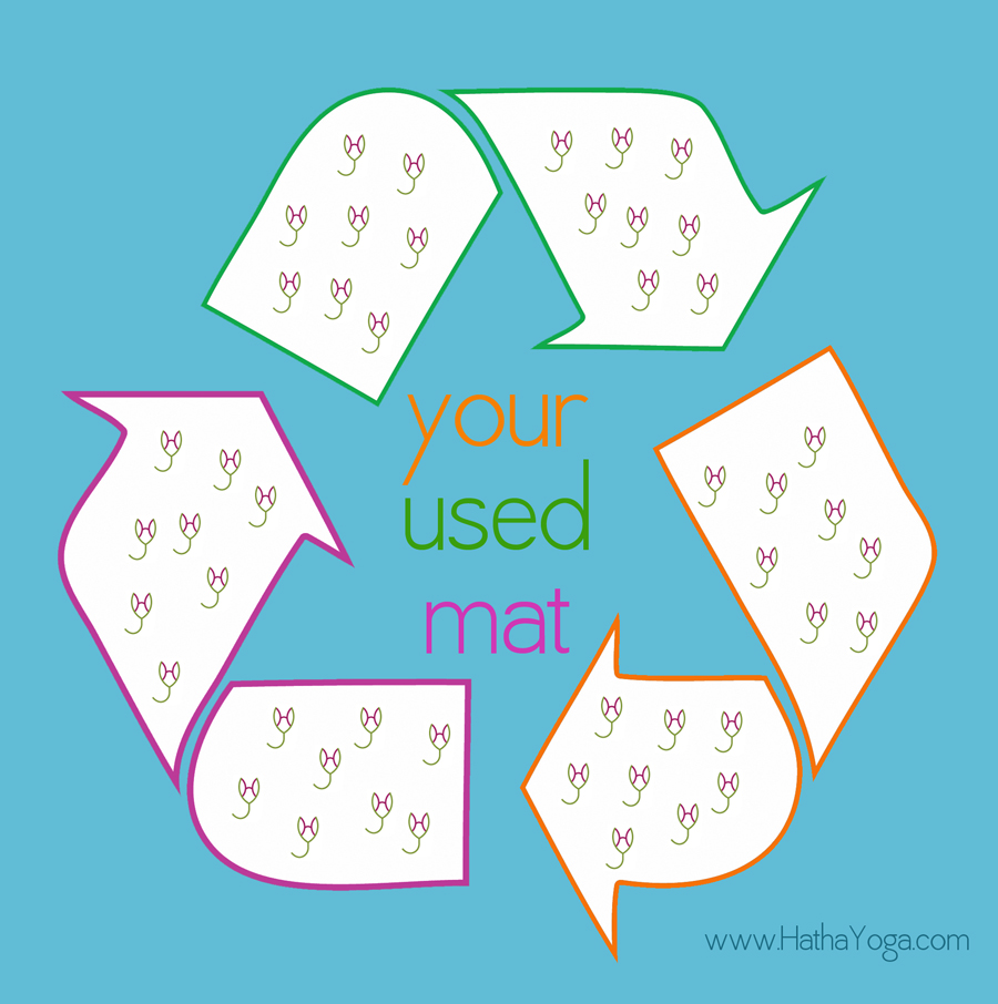 What to do with your used yoga mat hathayoga hatha yoga recycle symbol 6 biocorpaavc