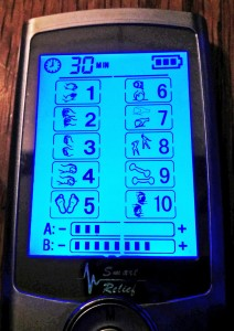 TENS unit LED screen